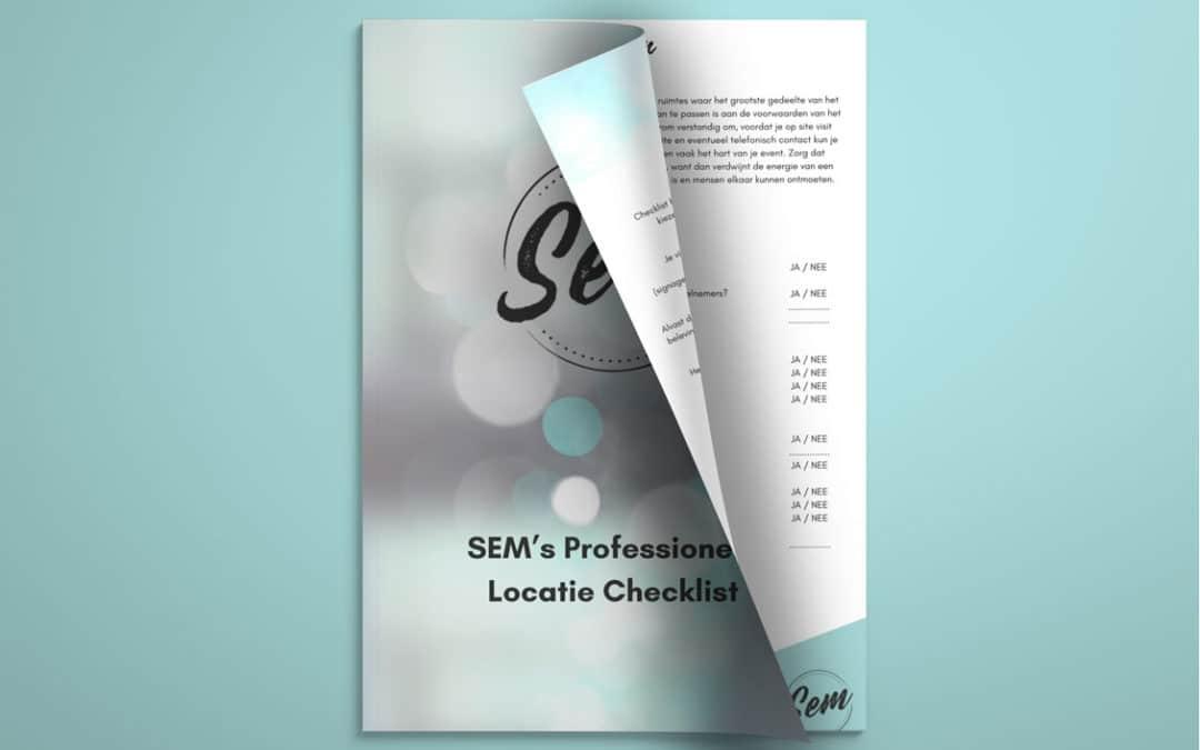 SEM's professionele locatie checklist Smart Event Managers